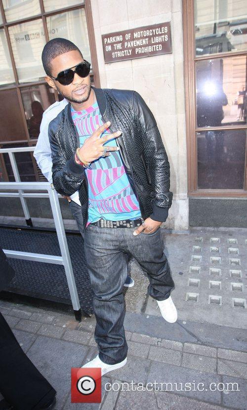 Usher outside the BBC Radio 1 studios London,...