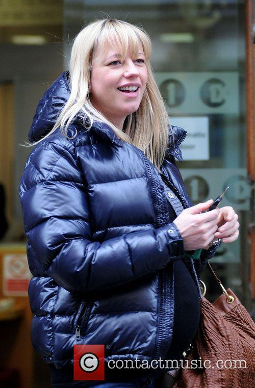 Leaves the BBC Radio 1 studios after hosting...