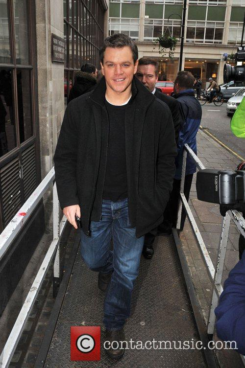 Matt Damon arriving at the BBC radio 1...
