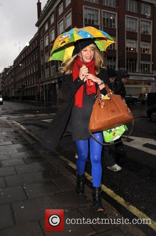 Sara Cox outside the BBC radio 1 studios...