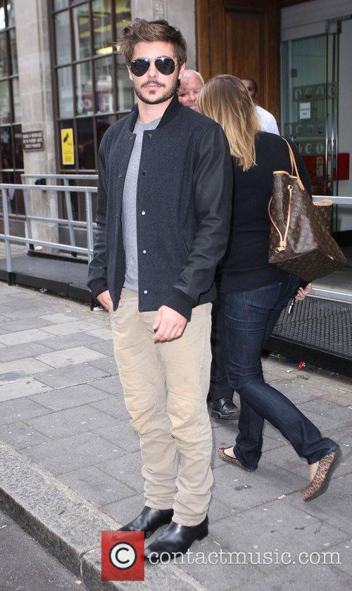 Zac Efron at the BBC Radio 1 studios...