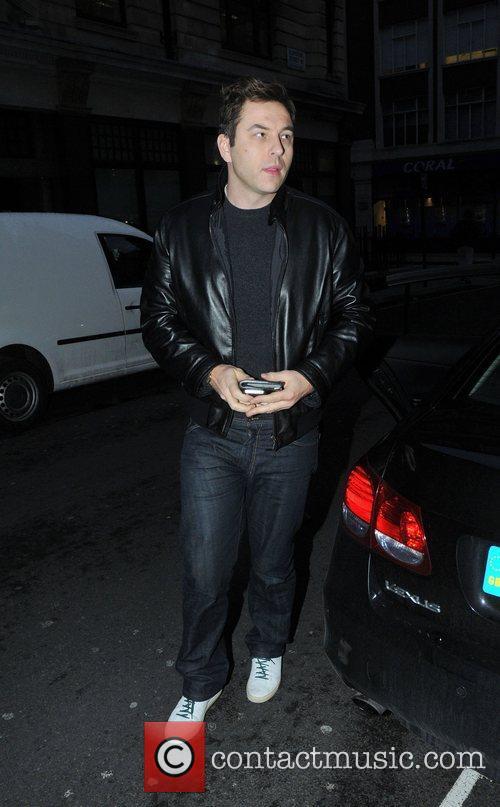 David Walliams arriving at the BBC Radio 1...