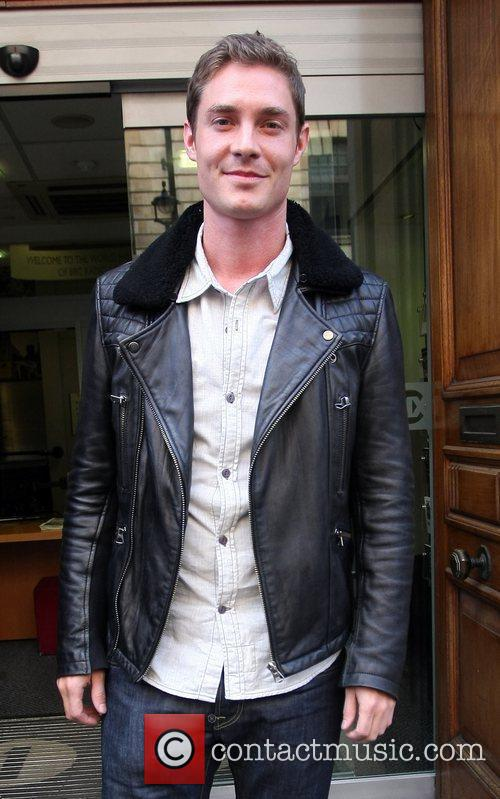 Max Brown outside the BBC Radio 1 studios...