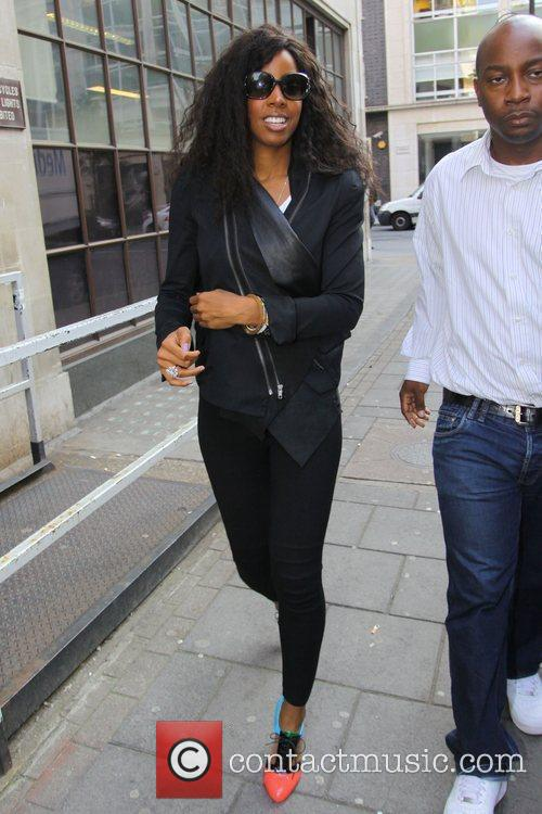 Kelly Rowland outside the Radio 1 building London,...