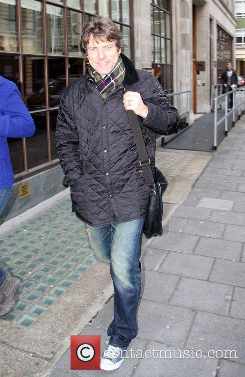 John Bishop arrives at the BBC Radio 1...