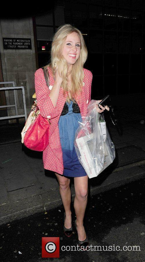 Diane Vickers arrives at the BBC Radio 1...
