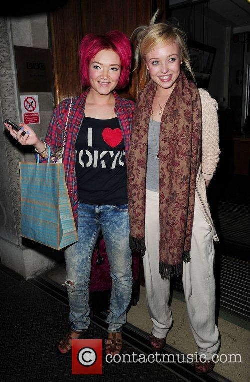 Hollyoaks actresses Hollie-Jay Bowes (L) and Jorgie Porter...
