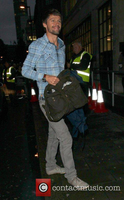 Take That arrive at the BBC Radio 1...