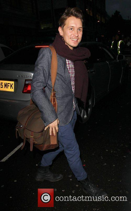 Mark Owen Take That arrive at the BBC...