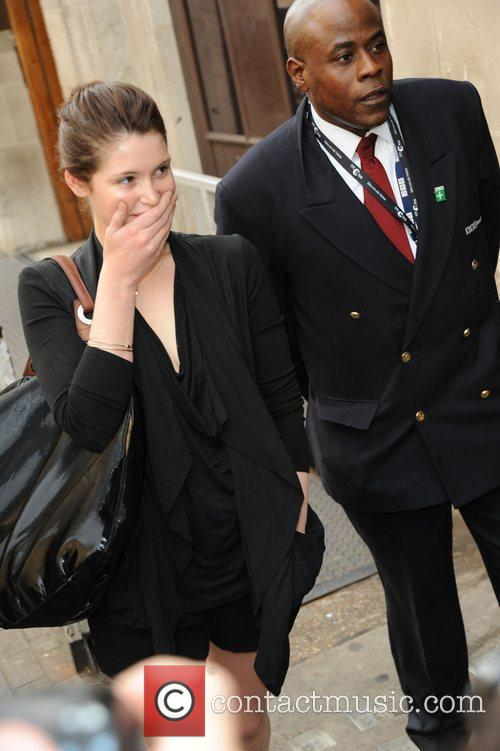 Gemma Aterton Outside The Radio 1 Building 3