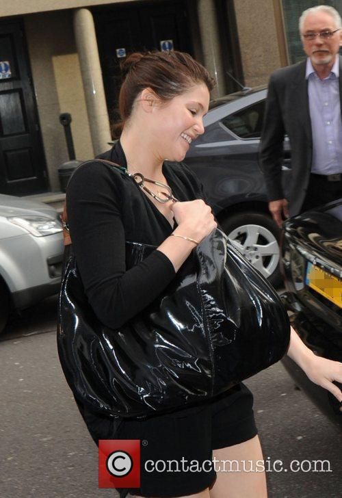 Gemma Aterton Outside The Radio 1 Building 2