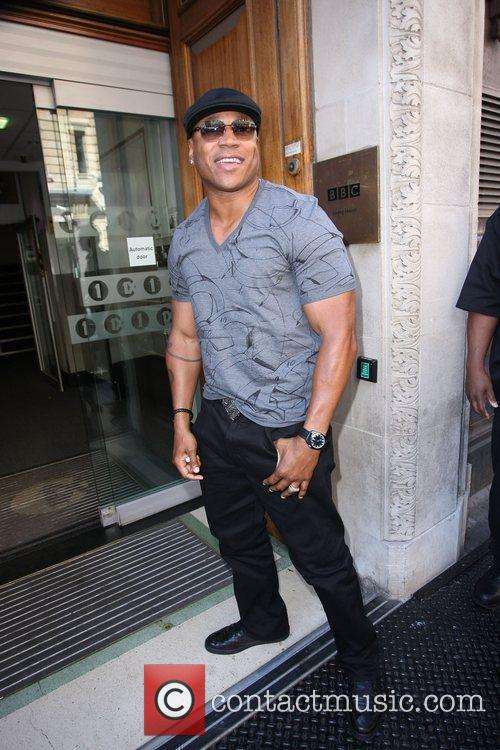 Rapper LL Cool J outside the BBC Radio...
