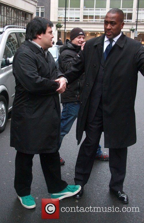 Jack Black Outside the BBC Radio One studios...