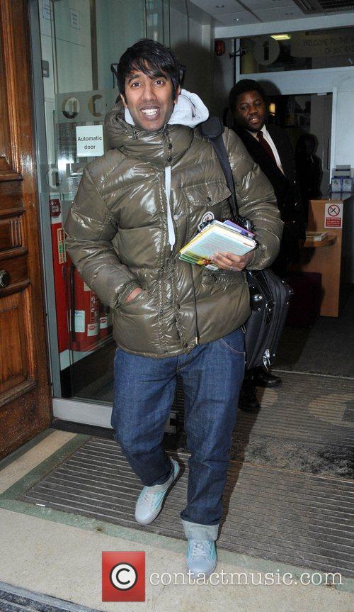 Nihal leaving the BBC Radio 1 studios London,...