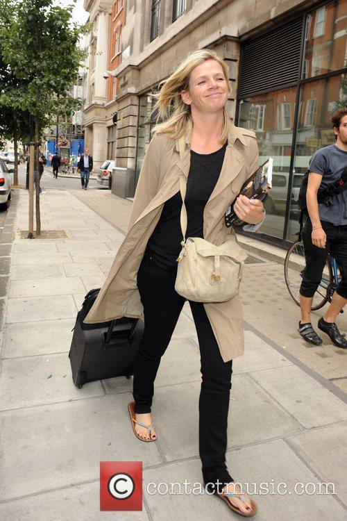 Zoe Ball leaving the BBC Radio 2 studios