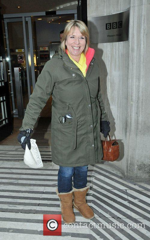 Leaving the BBC Radio 2 studios after covering...