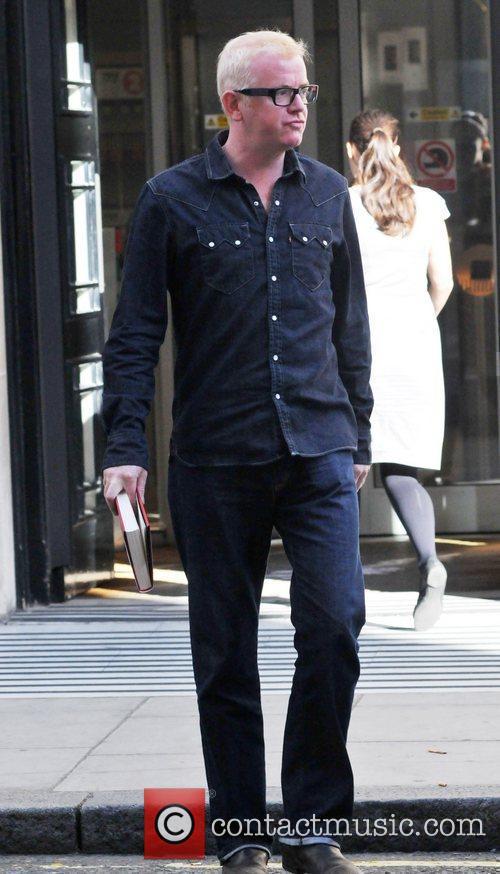 Chris Evans  outside the BBC Radio 2...
