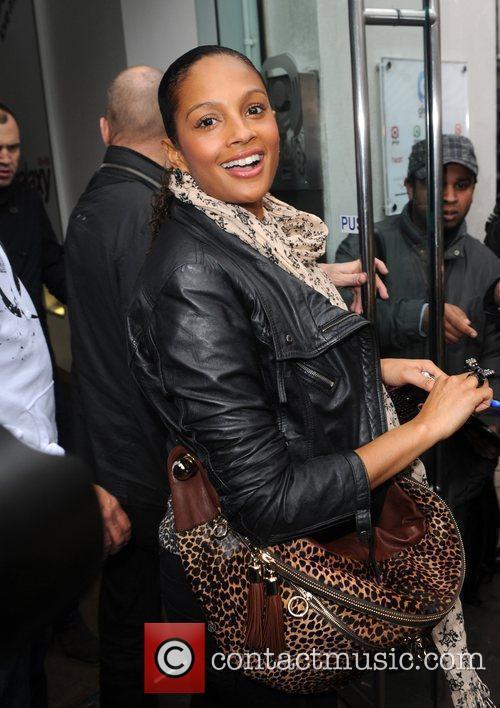 Singer Alesha Dixon  arrives at the Global...