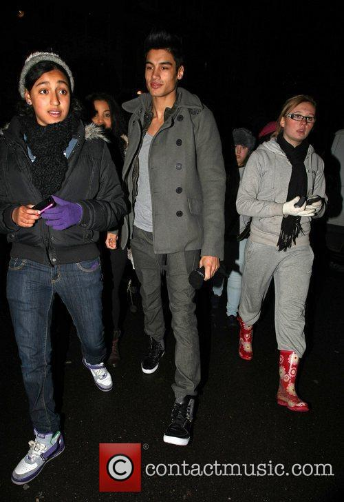 Siva Kaneswarran of The Wanted at Radio One...