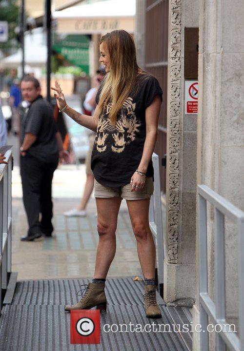Fearne Cotton outside the BBC Radio One studios...