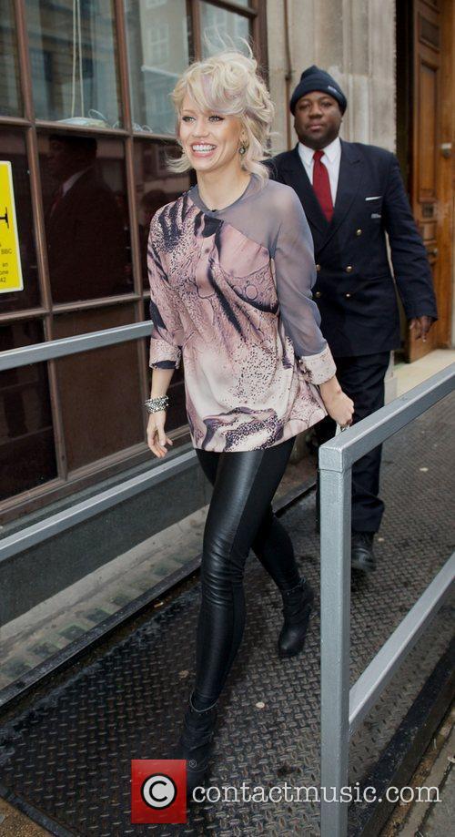 Kimberly Wyatt  leaving the BBC Radio One...