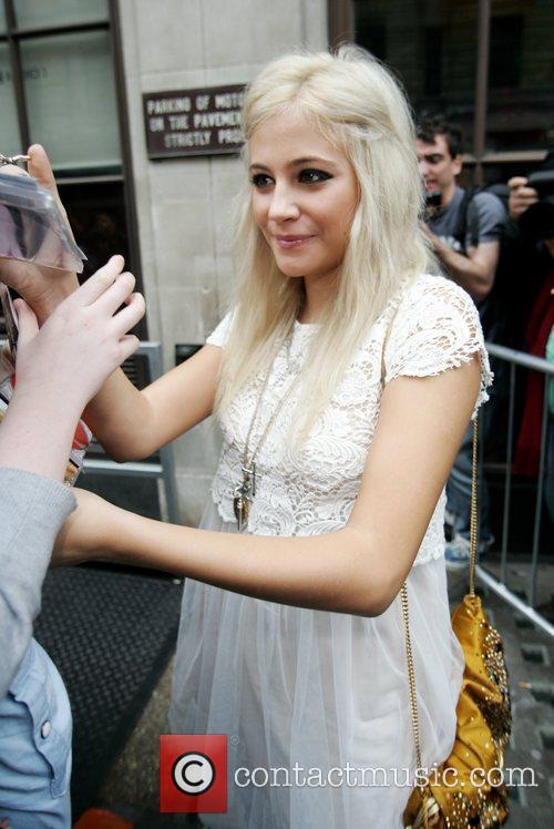 Pixie Lott arriving at the BBC Radio One...