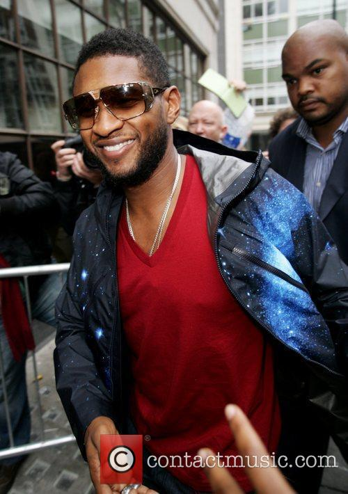 Usher  arriving at the BBC Radio One...