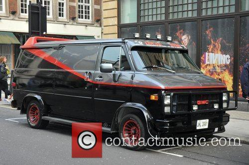 Parked outside the BBC radio One studios,