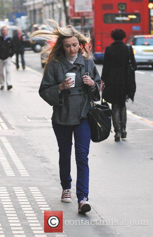 Fearne Cotton looking wind swept as she makes...