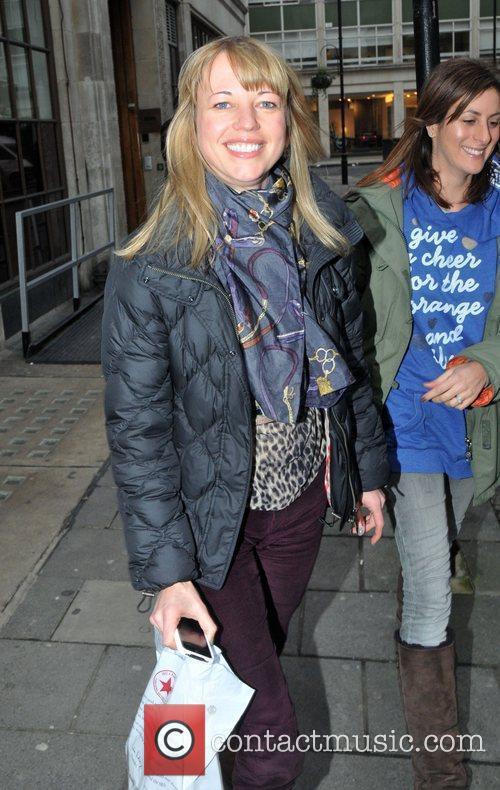 Sara Cox leaving the BBC Radio One studios...