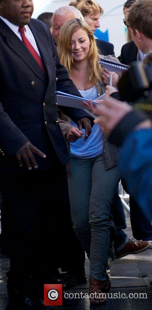 Charlotte Church  arriving at the BBC Radio...