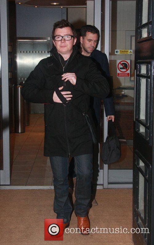 Rick Astley leaving the BBC Radio 2 studios...