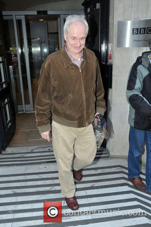 Paul Gambaccini Celebrities outside the BBC Radio Two...