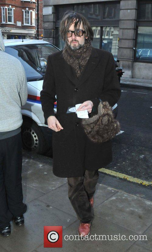 Jarvis Cocker arriving at the BBC Radio 2...