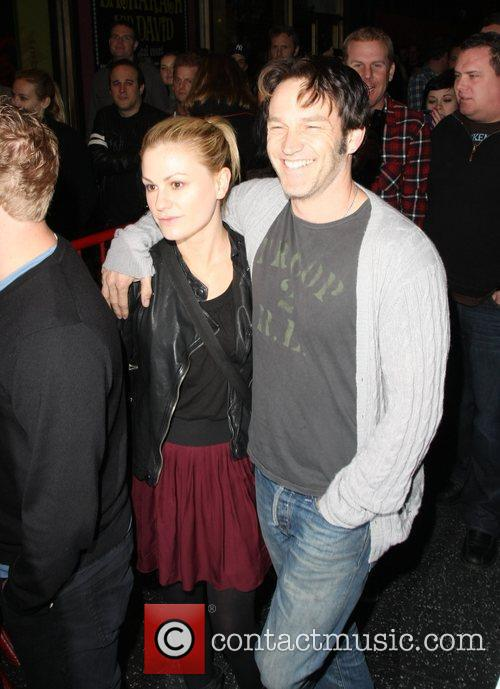 Anna Paquin and Steven Moyer  oustide the...