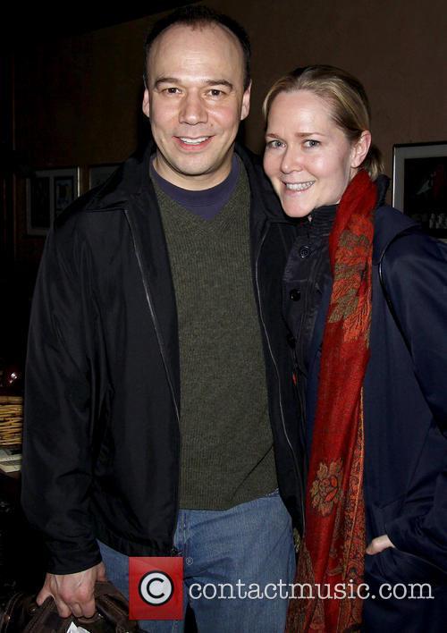 Danny Burstein and Rebecca Luker attending the opening...