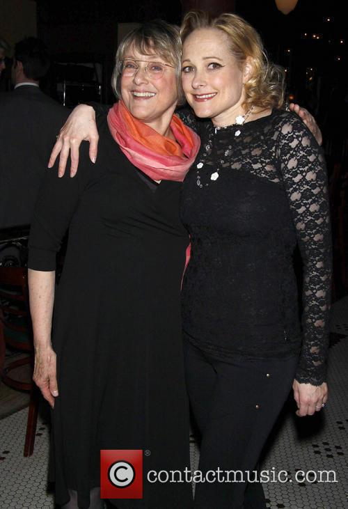 Mary Beth Hurt and Kate Blumberg Attending The Opening Night Party For Lincoln Center Theater's Production Of 'when The Rain Stops Falling' Held At O'neal's.