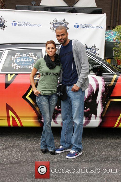 Eva Longoria-Parker and Tony Parker at the 'Rally...