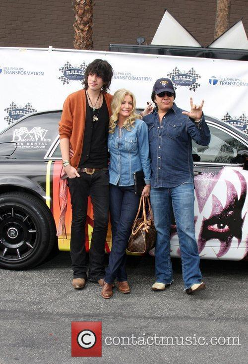 Nick Simmons, Shannon Tweed and Gene Simmons at...