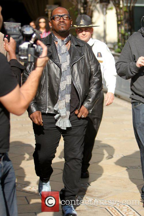 Randy Jackson at The Grove to be interviewed...