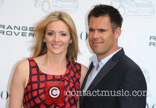 Gabby Logan and Kenny Logan Range Rover -...