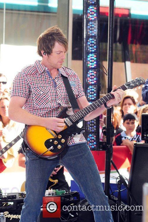 Joe Don Rooney Rascal Flatts perform on NBC's...