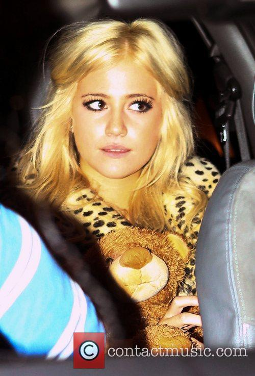 Pixie Lott leaves the Real Radio 10th birthday...