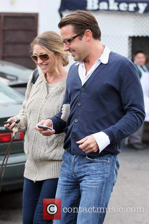 Rebecca Gayheart and a friend depart La Conversation...