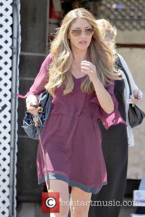 Rebecca Gayheart leaving La Conversation in West Hollywood...