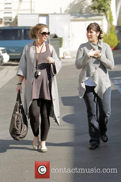 Heavily pregnant Rebecca Gayheart out shopping at Calypso...