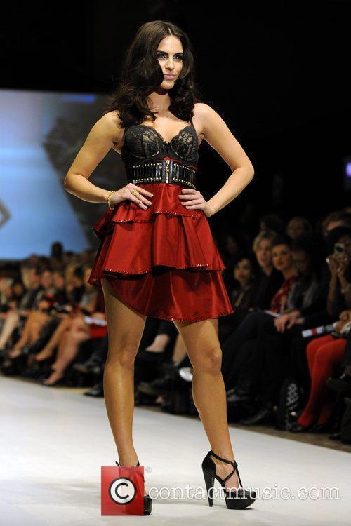 Jessica Lowndes wears a dress by Evan &...