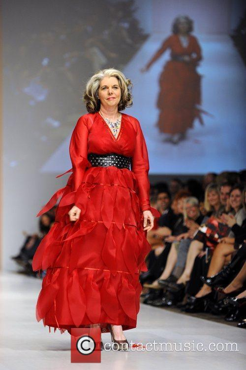 Linda Cullen wears a dress by D'Arcy Moses...