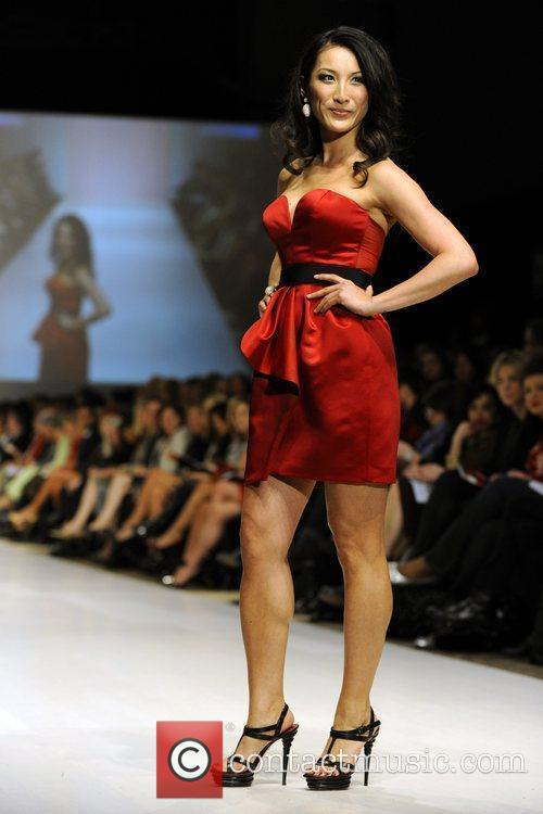Tanya Kim wears dress by Andy The-Anh The...