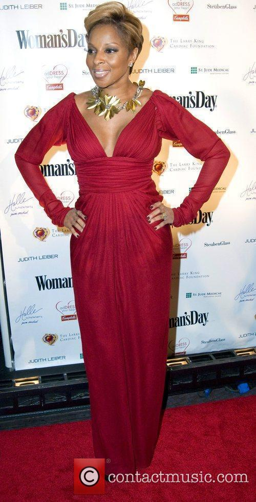 Mary J. Blige attends the Woman's Day magazine...